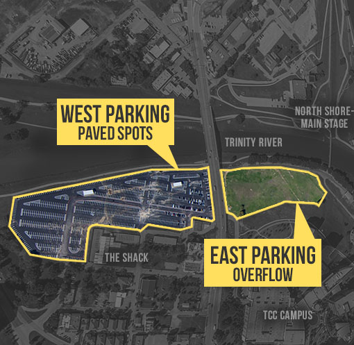 Panther Island Pavilion Event Parking