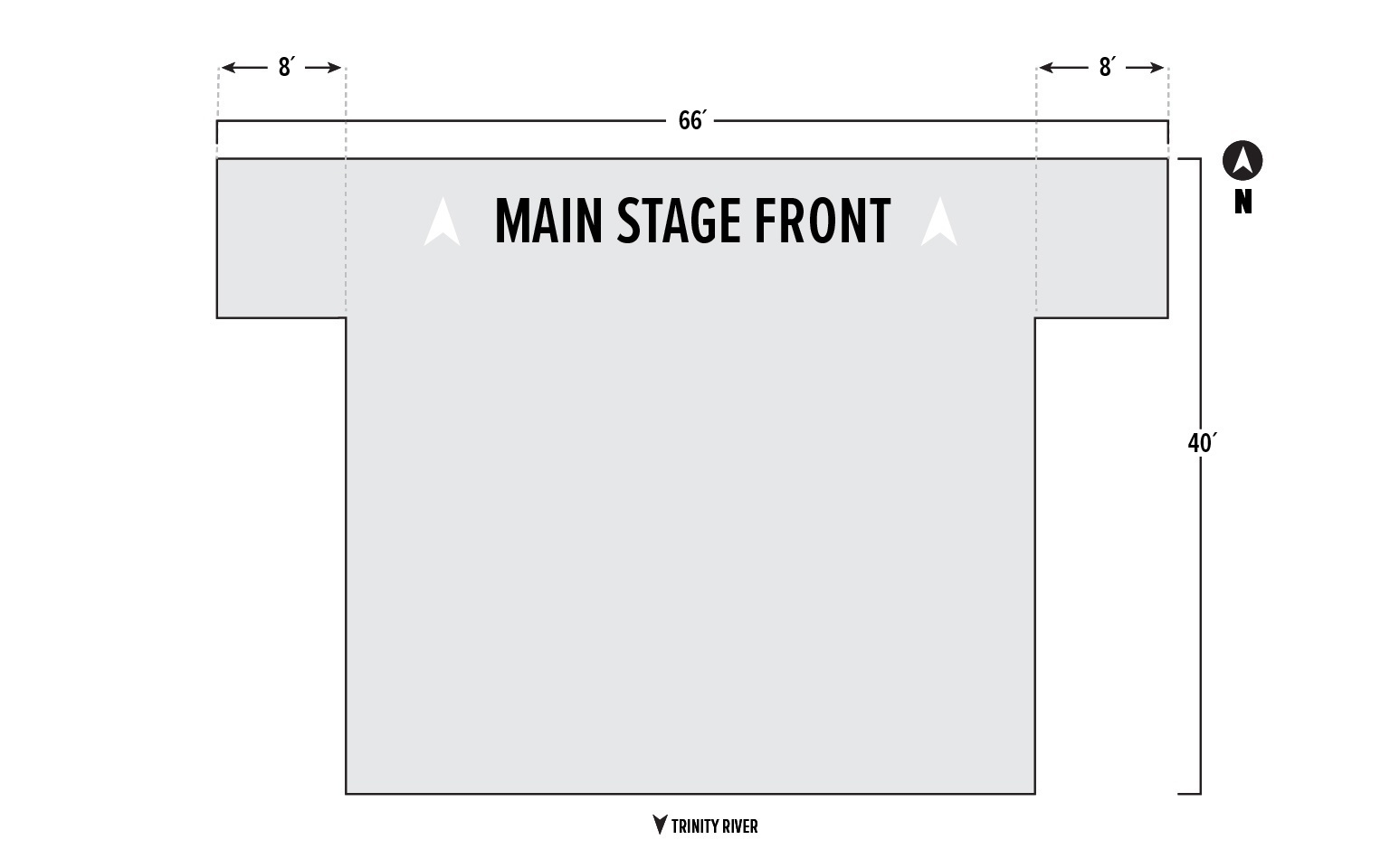North Shore Stage Diagram at Panther Island Pavilion