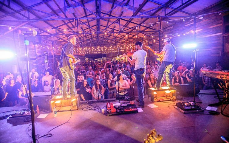 Music and tubing at the only waterfront stage in Texas - Panther Island Pavilion